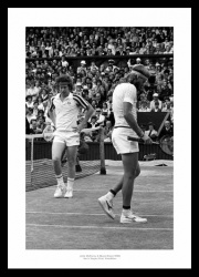 Bjorn Borg v John McEnroe 1980 Wimbledon Tennis Final Photo Memorabilia