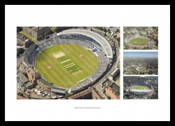 The Oval Cricket Ground Aerial Photo Memorabilia Montage