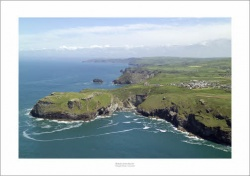 Tintagel Head, Cornwall Aerial Landscape Photograph