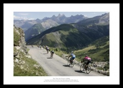 Tour de France Alps Descent Cycling Photo Memorabilia