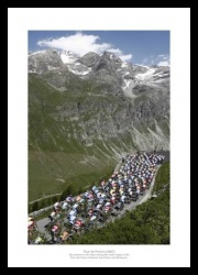 Tour de France Alpine Pass  Photo Memorabilia