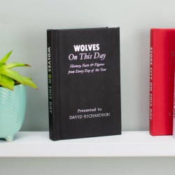 Personalised Wolverhampton Wanderers 'On This Day' Book