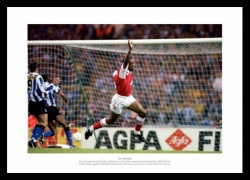 Ian Wright Arsenal FC 1993 FA Cup Photo Memorabilia
