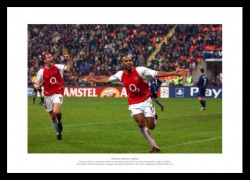 Thierry Henry Arsenal FC Legend  Photo Memorabilia