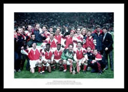 Arsenal 1994 European Cup Winners Cup Final Team Photo Memorabilia