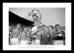 Aston Villa 1957 FA Cup Final Team Photo Memorabilia