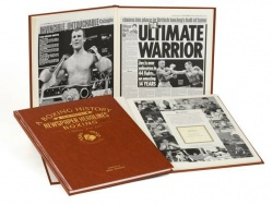 Personalised Boxing Historic Newspaper Memorabilia Book