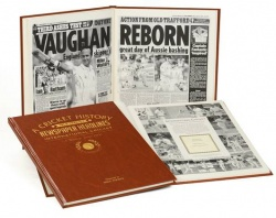 Personalised Cricket Historic Newspaper Memorabilia Book