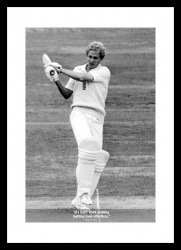 David Gower Classic Quote Cricket Print