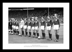 England 1966 World Cup Final Team Line Up Photo Memorabilia
