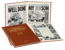 Personalised Formula One Historic Newspaper Memorabilia Book