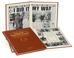 Personalised British Open Golf Historic Historic Newspaper Memorabilia Book