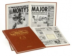 Personalised Ryder Cup Golf Historic Newspaper Memorabilia Book