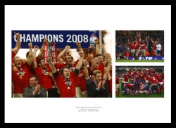 Wales Rugby 2008 Grand Slam Photo Memorabilia