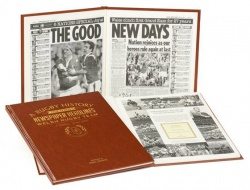 Personalised Wales Rugby Team Historic Newspaper Book